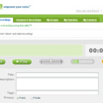 Evoca: Aplicación web para grabar mensajes de voz