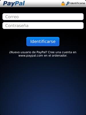 PayPal para BlackBerry
