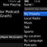 TuneIn Radio: Sintoniza estaciones de radio desde tu BlackBerry