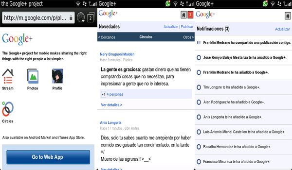 Google Plus para BlackBerry