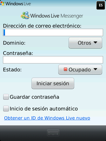 Windows Live Messenger BlackBerry