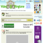 Video2Ringtone: Hacer ringtones con videos de Youtube online