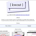 Kwout: Realizar capturas de pantalla