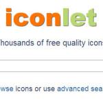 Iconlet: Buscador de iconos gratis online