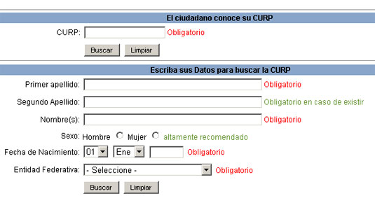 Curp online