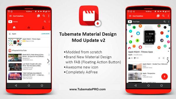 Tubemate Material Design